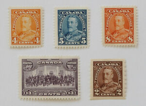 Canada - Set of 5 Stamps 1935 MH / George V