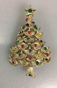 Multi colored christmas tree pin