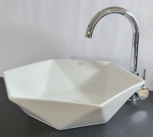 Waschbecken rund gäste wc  Design Keramik Aufsatz Waschschale Waschtisch Waschbecken rund eckig ...