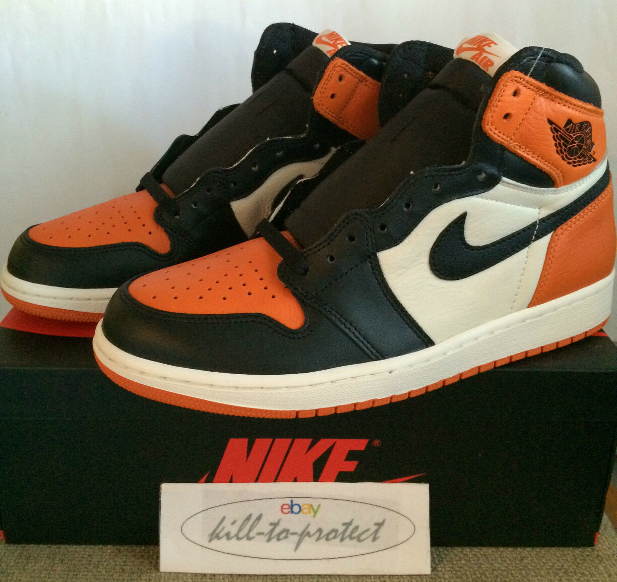NIKE AIR JORDAN 1 SHATTERED BACKBOARD Sz UK US 8 9 10 11 12 Bred 555088-005 QG