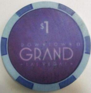 $1 Downtown Grand Casino / Poker chip Las Vegas NV