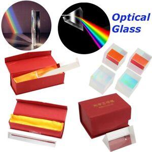 Optical-Glass-Triple-Triangular-Cube-Prism-Box-Physics-Teaching-Light-Spectrum