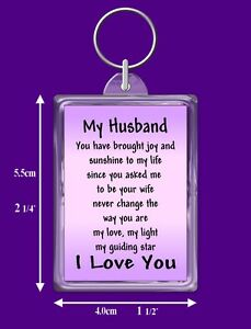 Image Is Loading My Husband Verse Keyring Birthday I Love You