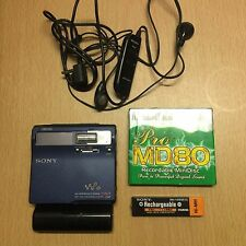 Sony MZ - N1 Minidisc Player / Recorder  in Blau