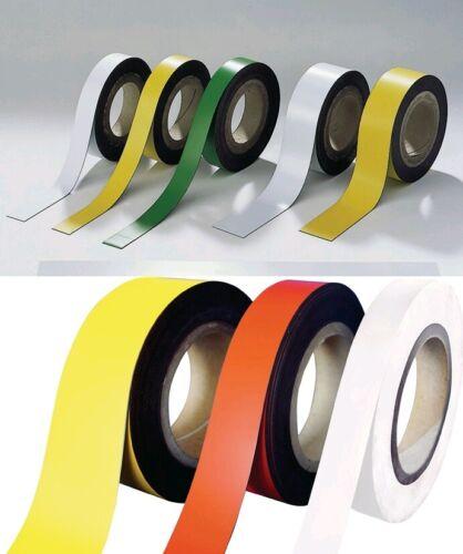 20,30 od 5 od 50mm L Magnetband blau rot grün weiß gelb B 10 m zuschneidbar