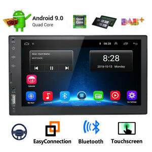 7/'/' Android 9.0 4G WiFi Double 2Din Car Radio Stereo GPS Navi Multimedia Player