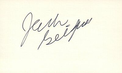 Adaptable Jack Gilford Actor 1976 George Abbot Tv Movie Autographed Signed Index Card Autographs-original Cards & Papers