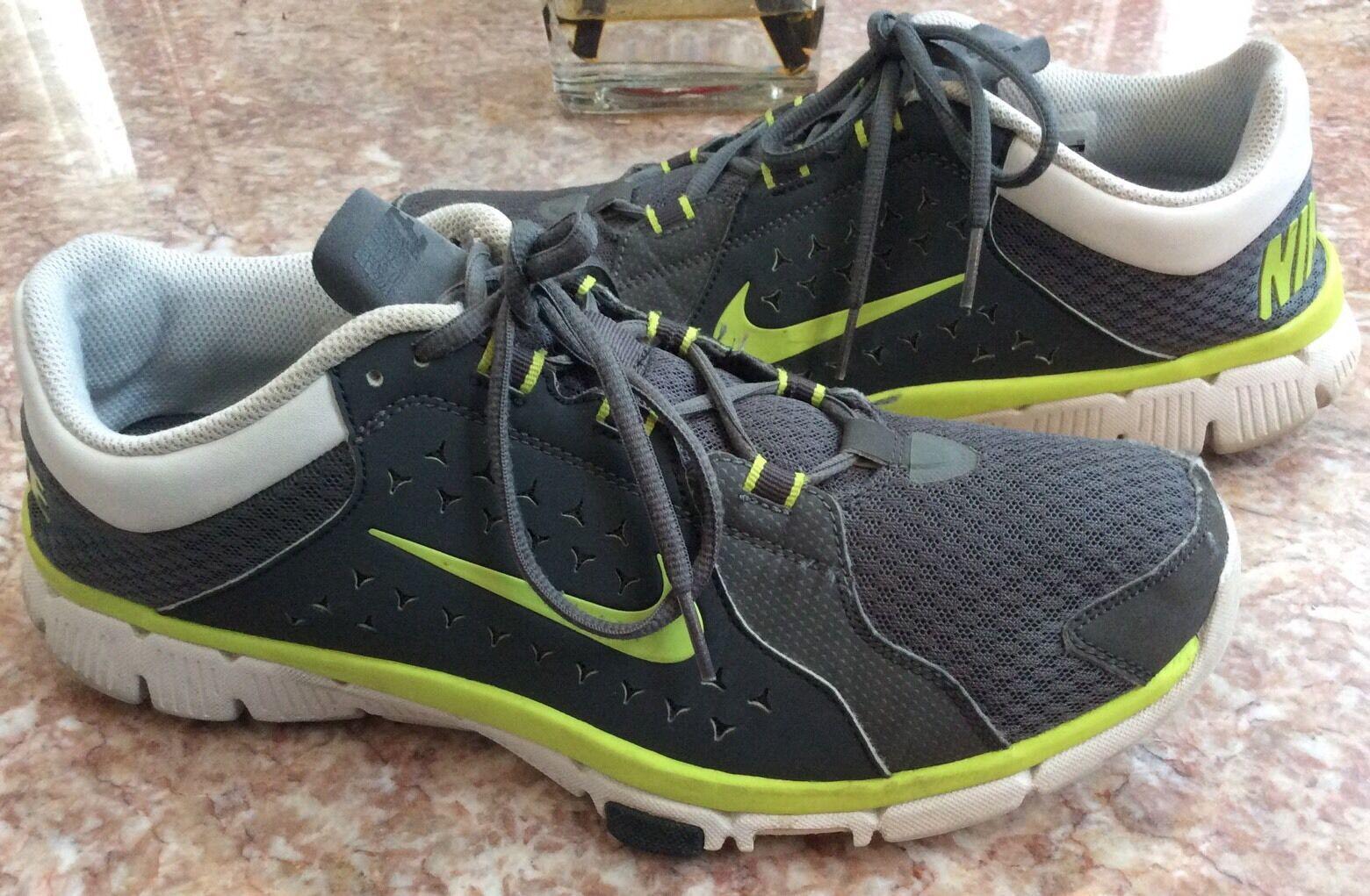 NIKE Flex Supreme Men's TR-Gray/Neon Green Athletic Shoes Sz 11 - 525730-004
