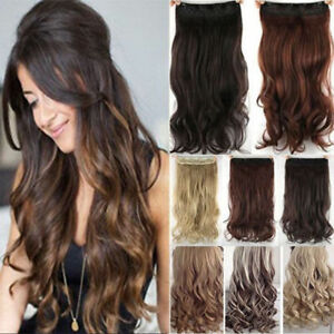 Fashion-Ombre-Clip-in-Remy-Hair-Extensions-3-4-Full-Head-Thick-One-Pcs-As-Human