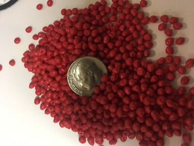 10 lb RED MICRO Plastic beads Round pellets craft rock hard tumbling burnishing