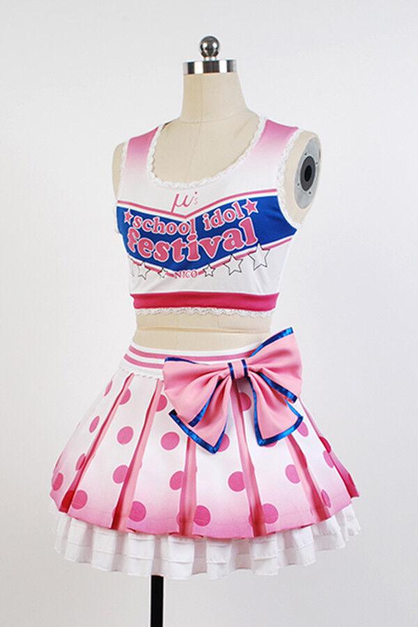 Love Live!Cheerleader Yazawa Nico/Niko Cosplay Costume Uniform Outfit Dress Suit   eBay