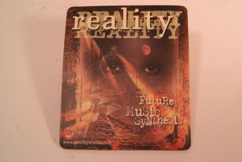 SEER SYSTEMS REALITY SYNTHESIZER MOUSE PAD AND BUTTON—EM 2017 LEGACY AWARD!