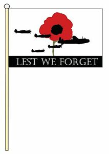Lest We Forget RAF 3ft x 2ft Flag FREE UK P/&P