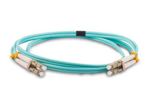 OM4 10GB Aqua 1 Meter//3.3 Feet Duplex Multimode LC to LC Fiber Patch Cable