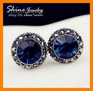 925 Sterling Silver Plated Blue