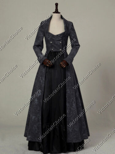 1840-1850s Dickens Victorian Costuming for Women    Gothic Victorian Edwardian Harry Potter Witch Coat Dress Halloween Costume C058 $169.00 AT vintagedancer.com
