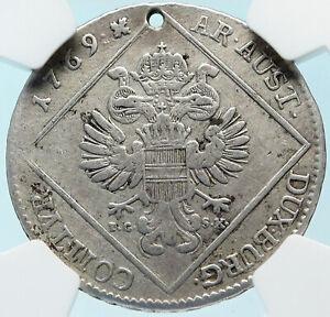 1769-AUSTRIA-Queen-Maria-Theresa-Old-Antique-30-Kreuzer-Austrian-NGC-Coin-i83741