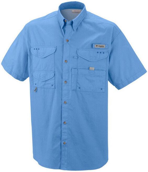 NEW Columbia PFG Bonehead Vented Short Sleeve Shirt Koi 3X