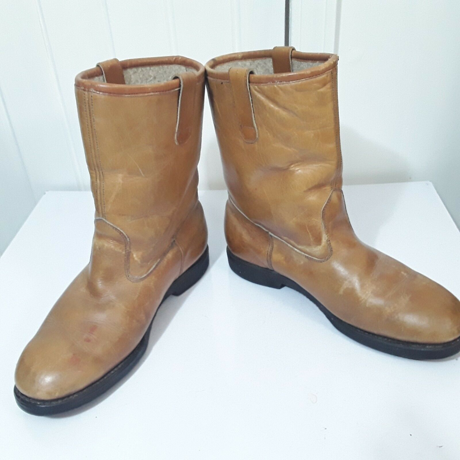 VTG USA MASON FIELD & STREAM Uomo BROWN 8.5 LEATHER INSULATED BOOTS SZ 8.5 BROWN EE 377022