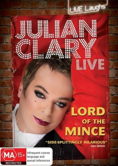Julian Clary Live: Lord Of The Mince (DVD)  Region 4 - Very Good Condition
