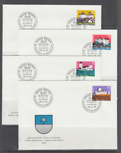 Switzerland-Sc-B439-B478-FDC-1976-80-semi-postals-10-cplt-sets-on-40-FDCs
