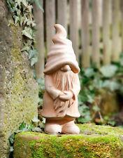 """große Deko Eule /""""Hedwig/"""" 41cm hoch Terracotta Eulen Figur Garten Statue Skulptur"""