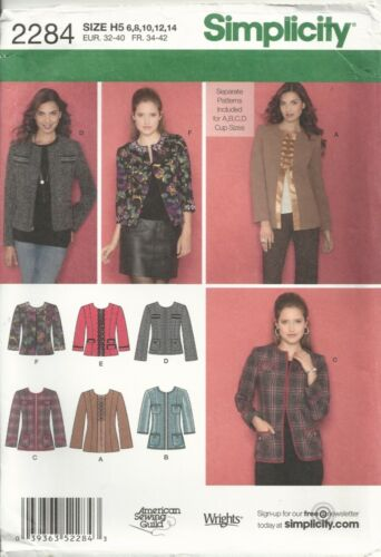 SIMPLICITY 2284 MISSES SIZE 6-14 LINED JACKETS IN TWO LENGTHS SEWING PATTERN OOP