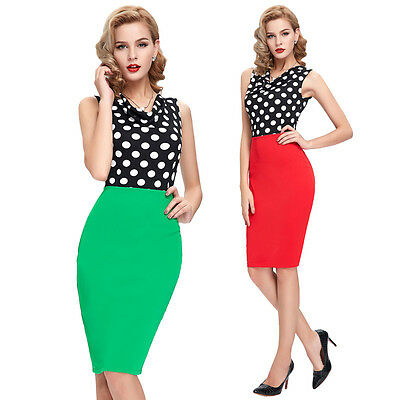 ONLY 9.69 VINTAGE 50'S 60'S RETRO OFFICE PENCIL WIGGLE PIN UP DRESSES