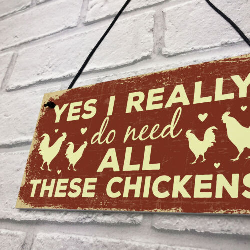 Funny Chicken Sign For Chicken Lovers Novelty Sign For Chicken Coop Hen House