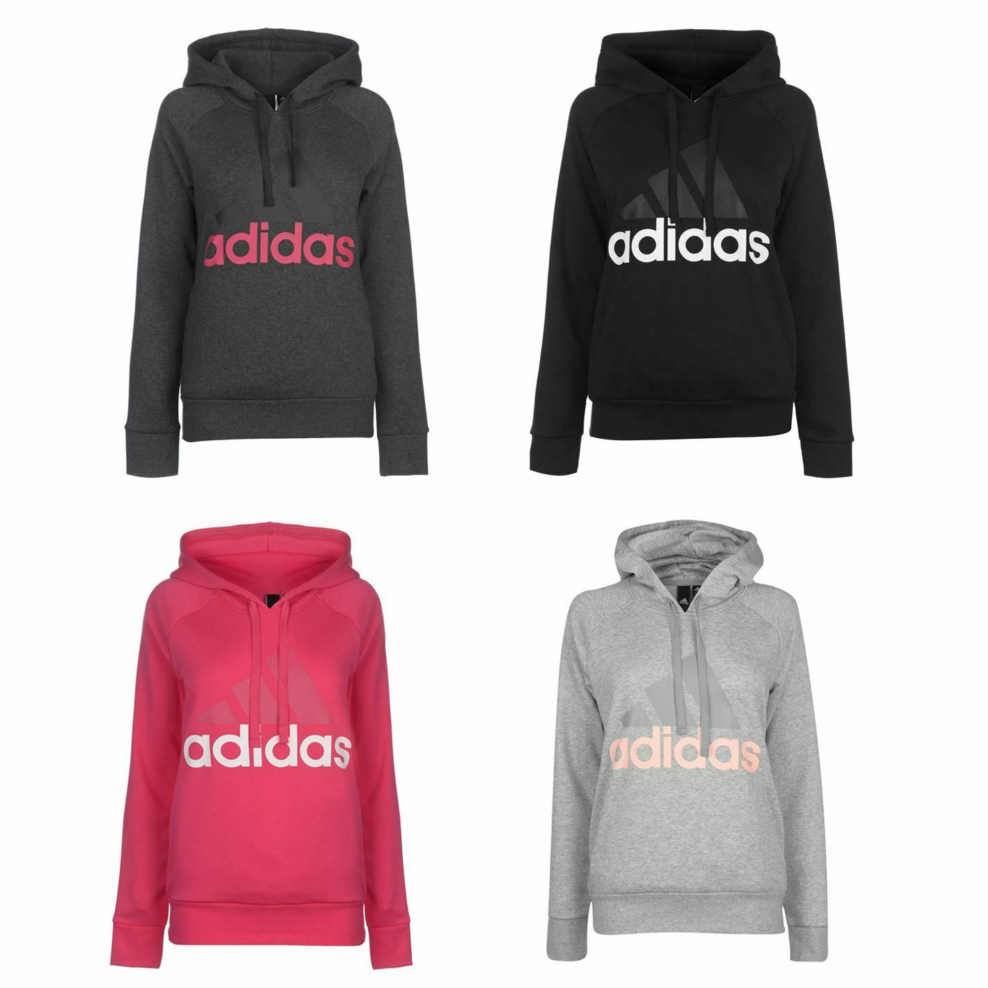 Adidas Linear OTH Hoody Ladies Drawstring Hooded Top Outerwear