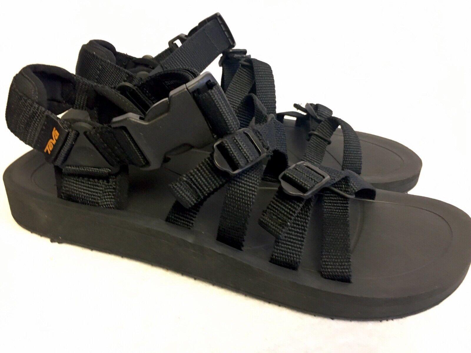 Teva Uomo Alp Premier Premier Premier Polyester Upper Casual Sandals nero Strappy 1015200 New 6eff60