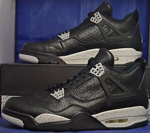 buy popular 78ec0 2d9f6 Image is loading Nike-Air-Jordan-4-IV-Retro-LS-Oreo-