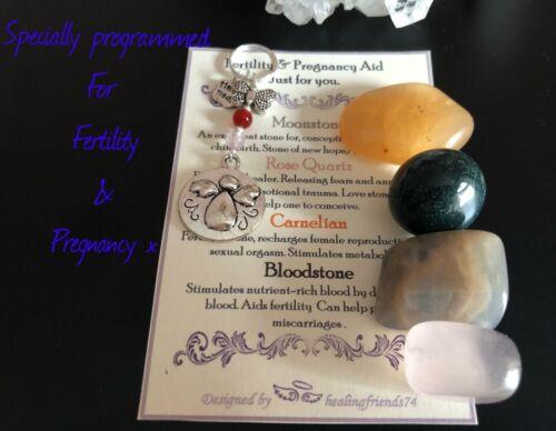 Fertility /& Pregnancy Gemstone Boosting Aid Gift Set Angel keyring//bag charm