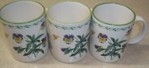 SET-OF-3-STUDIO-NOVA-GARDEN-BLOOM-3-3-4-034-Mugs-Excellent-Condition