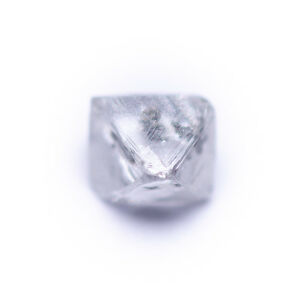0.19 Carat F SI3 Octahedron Diamond Natural Rough Untreated