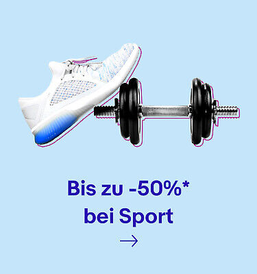 Bis zu -50%* bei Sport