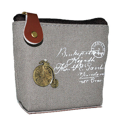 Lady Canvas Retro Coin bag Purse Wallet Card Case Classic Handbag Souvenir Gift