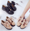 Womens Oxford Style Buckle Pu leather Round Toe Bowknot Casual Flat heel Shoes
