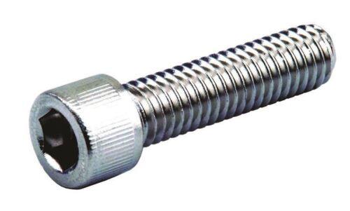 M8 X 1.25 X 20mm Chrome Socket Allen Head Metric Bolt With Knurls 2 PCs