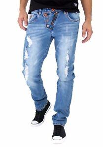 Etzo Mens biker jeans Skinny fit premium Ripped Distressed Denim 4 Colors