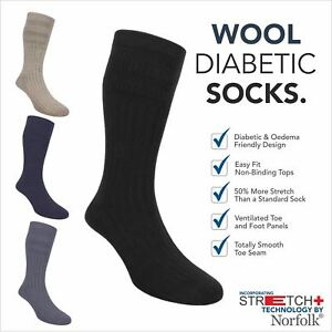 684a8f6b09 Image is loading Wool-Diabetic-Socks-With-Norfolk-Stretch-Technology-Oskar
