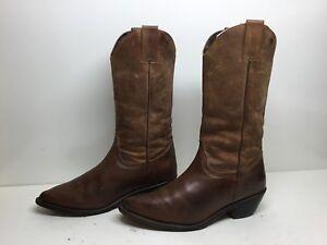 VTG-WOMENS-DURANGO-COWBOY-BROWN-BOOTS-SIZE-7-5-M