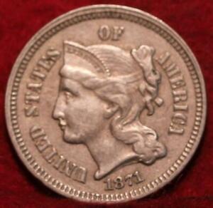 1871-Philadelphia-Mint-Nickel-Three-Cent-Coin