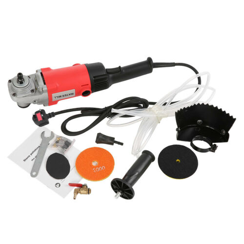1400W Electric Stone Wet Polisher Variable Speed Hand Grinder Water Mill HFT