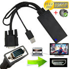1080P VGA to HDMI +USB Audio Video Cable Adapter Converter Laptop PC DVD HD Hot