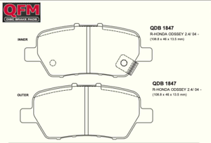DB1847-QFM-PREMIUM-REAR-BRAKE-PADS-SET-SUIT-HONDA-ODYSSEY
