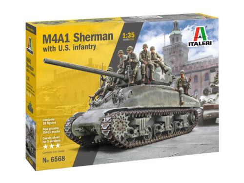 M4A1 Sherman With Infantry Kit ITALERI 1:35 IT6568