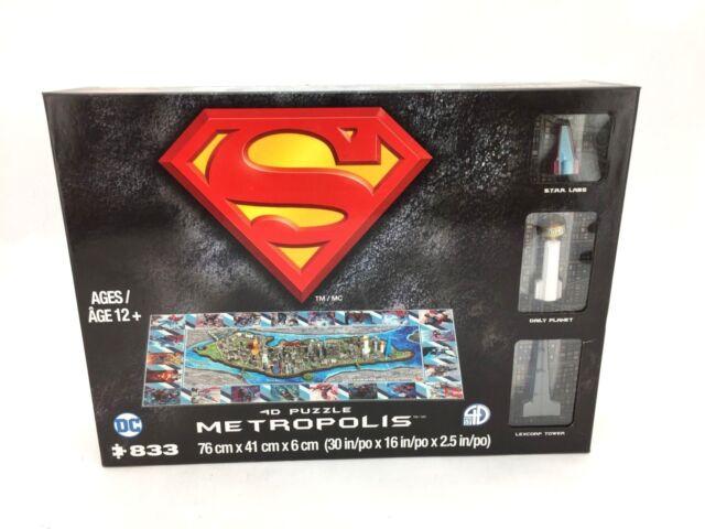 Superman Metropolis 4D Puzzle by Cityscape (833 Pieces)