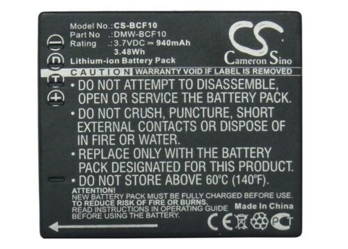 Lumix Dmc-fs12 Premium Batería Para Panasonic Lumix Dmc-fx60v Lumix Dmc-fx66p