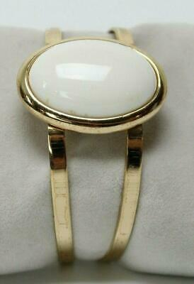 Goldtone Cuff Bangle Bracelet with Natural Choice of Gemstone and White Cubic Zirconia